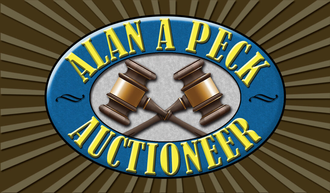 Pecks Auctioneer Business Card Front